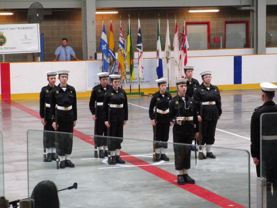 RCSCC Warspite cadets on parade at Annual Ceremonial Review